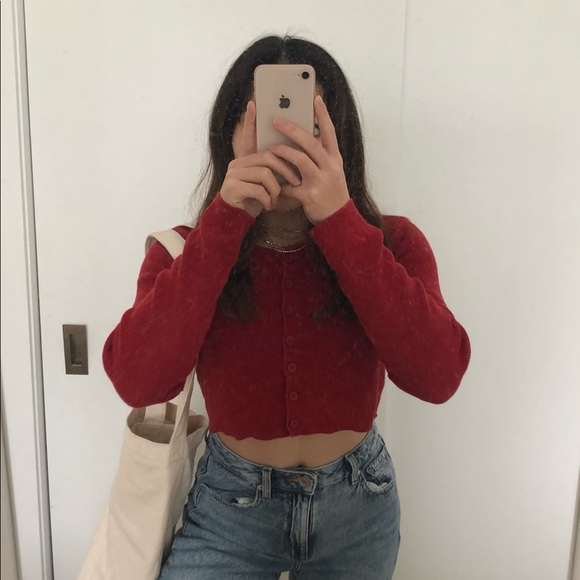 BRANDY MELVILLE Knitted copped cardigan